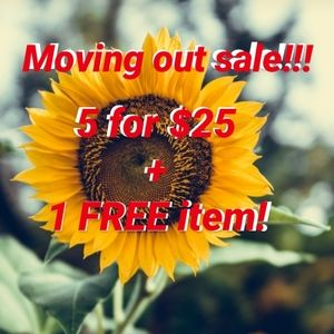 All items with 🌻 is 5 for $25 + 1 free item!